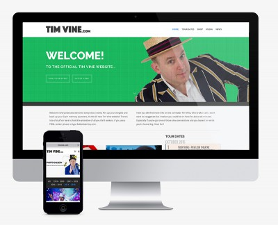 Tim Vine web design