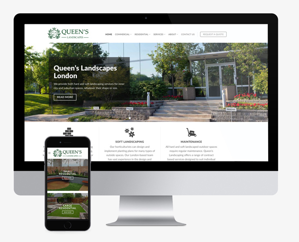 queens landscapes website design