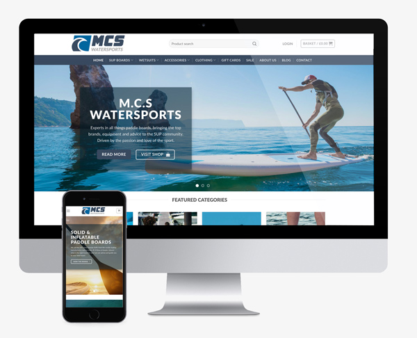 ecommerce website design for MCS