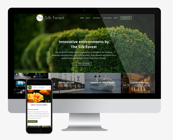 Website design silk forest