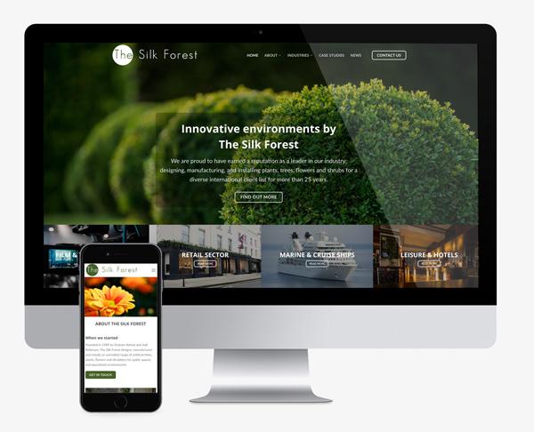 Website design silk forest