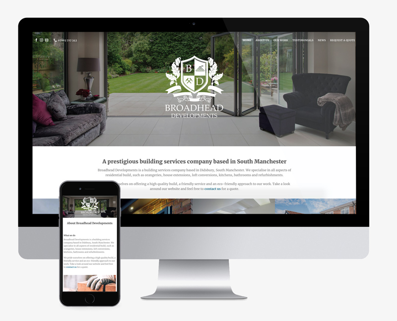 website design for a construction company