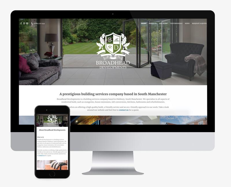 website design for a construction company